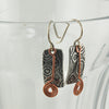 $33 - Etched Swirl Earrings