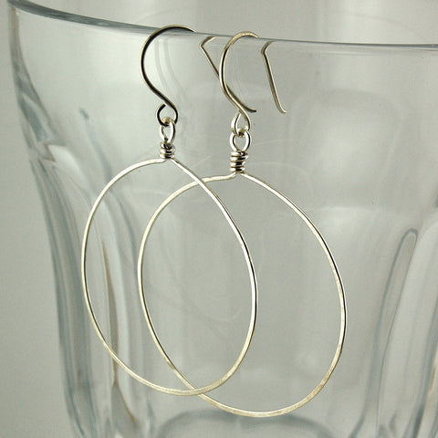 $28 - Simply Twisted Hoops - SIlver - Grande