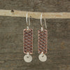 $33 - Copper Abstract Earrings