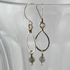 $33 - Tear Drop Earrings - Silver & Grey - Small