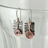 $33 - Pewter Swirl Earrings