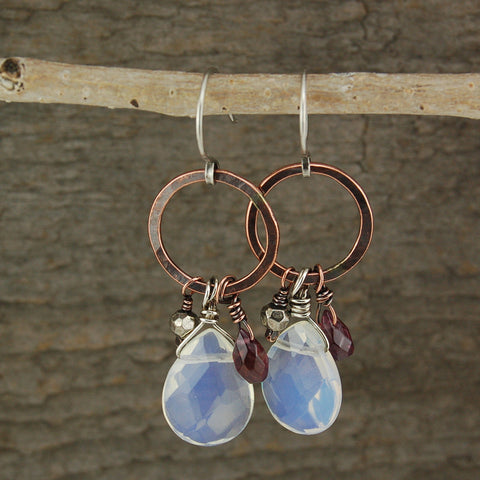 $36 - Copper Moonstone Earrings
