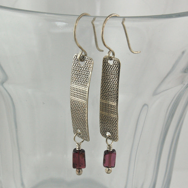 $36 - Garnet Steeple Earrings