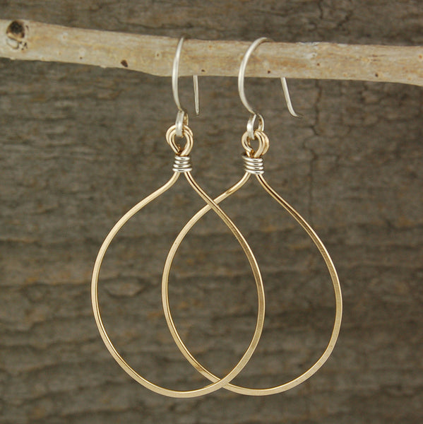 $34 - Tear Drop Earrings - Gold - Large