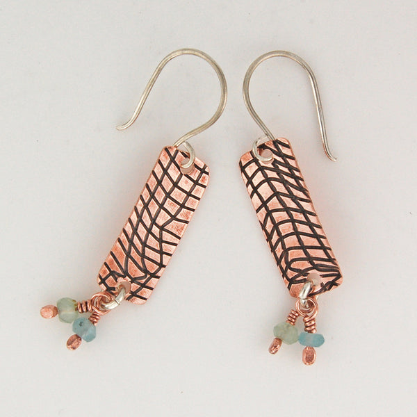 $33 - Copper Beach Earrings