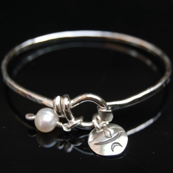 Chalice Bangle Bracelet - Heavy