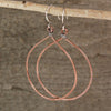 $22 - $31 - Copper Tear Drop Earrings
