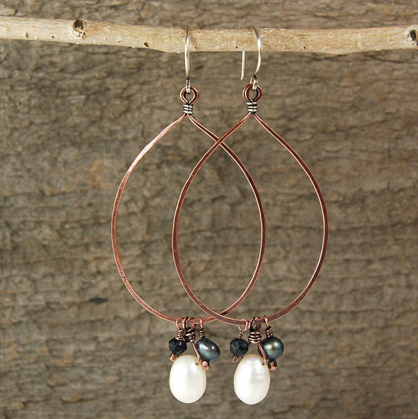 $39 - Pearl Moon Earrings