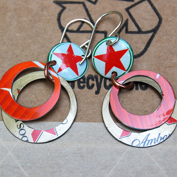 $29 - Recycled Earrings - Hoops