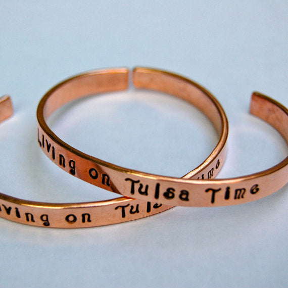 Living on Tulsa Time Bracelet