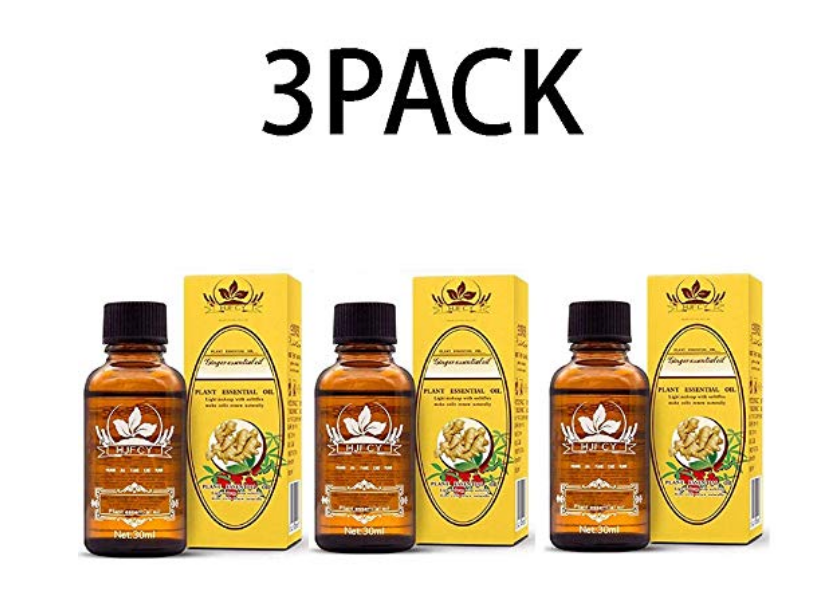 Powerful Herbal Ginger Oil - Lymphatic Drainage | 3 Bottle Bundle Monthly Subscription