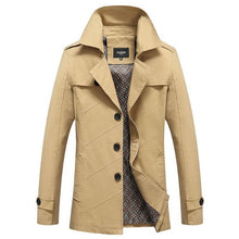 Fashion Medium-Long trench men new spring autumn