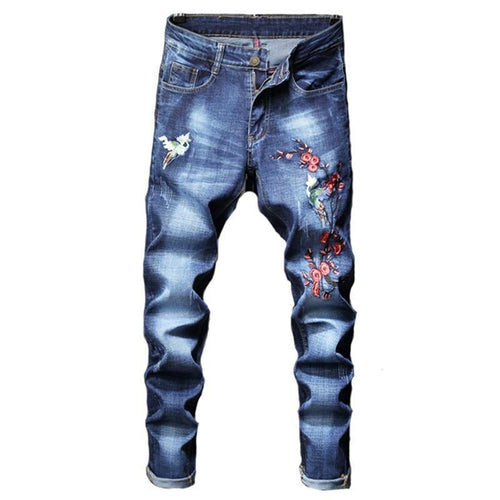 fashion new men's casual hole jeans