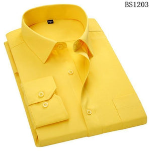 Mens Business Casual Long Sleeved Shirt Classic