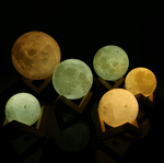 LED 3D Print USB Luna Moon Lamp