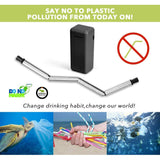 2 Pack Collapsible Reusable Straw