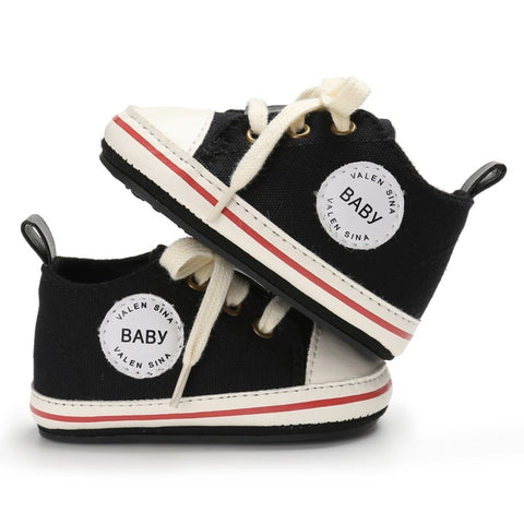 Toddler Canvas Lace-up First Walking Sneaker Crib Shoes