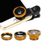 3-in-1 Wide Angle Macro Fisheye Lens Camera Kit For All Cell Phones