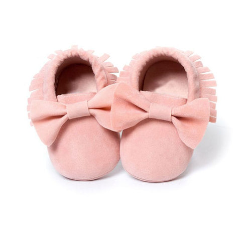 Baby Girls Adorable Moccasins Soft First Walker