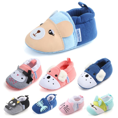 Cute Cotton Anti-Slip Moccasins Baby First Walker Shoes