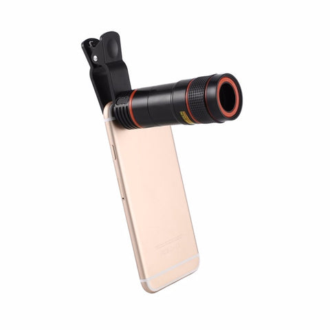 Cell Phone Camera Universal 12X HD External Optical Zoom Lens