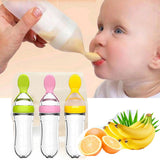 Silicone Baby Squeezing Training Spoon