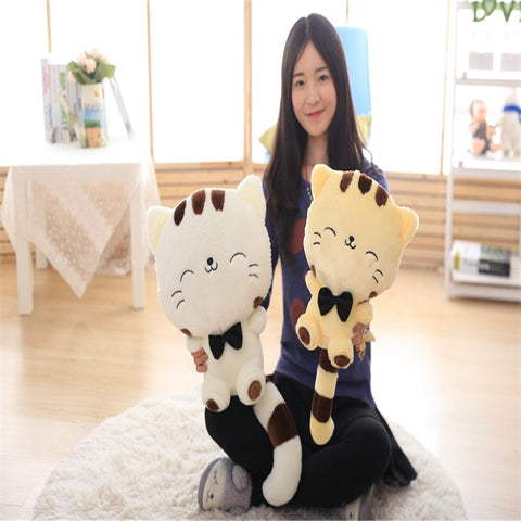 45CM Lovely Big Face Smiling Cat Stuffed Plush Toys Brinquedos Best Gifts for Kids