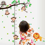 Animal Park Children Height Measurement Wall Decoration