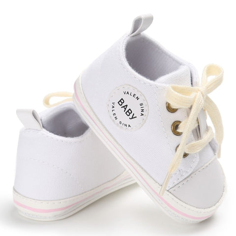 Toddler Canvas Lace-up First Walking Sneaker