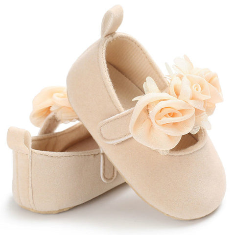 Cute As A Button Baby Girl Soft Sole Pre-walker Shoes