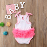 Adorable Flamingo Petal Baby Romper