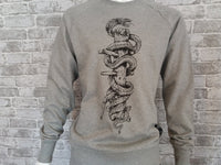 'Snake & Dummy' Sweat (Grey)