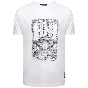 'Kung Fu Temple' (White) Martial Arts T Shirt - WAS £25 - NOW £15