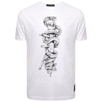 'Snake & Dummy' (White) Martial Arts T Shirt - WAS £25 - NOW £15