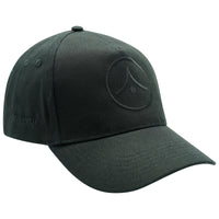 5 Panel Baseball Cap - Black on Black
