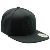 Original Flat Peak Snapback - Black on Black