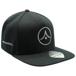 Original Flat Peak Snapback - Graphite on Black (£9 with any other item)