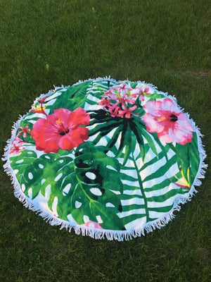 Hibiscus Tropical - Roundie Towel