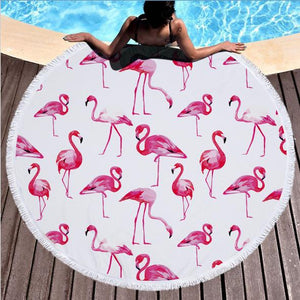 Pink Flamingo - Roundie Towel
