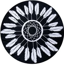 Black Feather - Roundie Towel