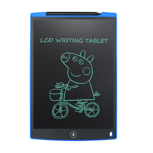 Blue -  LCD eWriter retains an image indefinitely without power until you press the erase button to clear the screen.