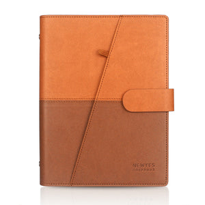 Brown PU Leather Reusable Smart Notebook