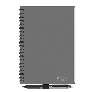 A5 Grey Erasable Smart Notebook Wide Ruled & Dotted Page