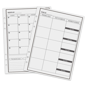 Reusable Planner Weekly, Monthly, Yearly Refill