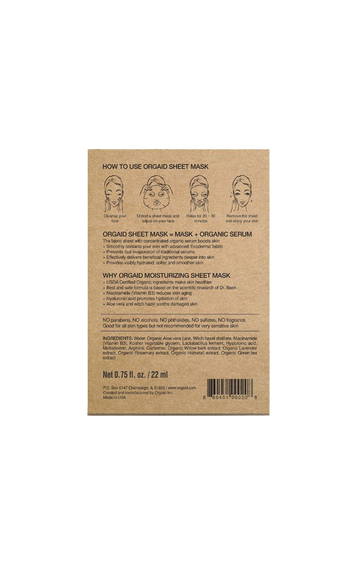 Anti-Aging & Moisturizing Organic Sheet Mask