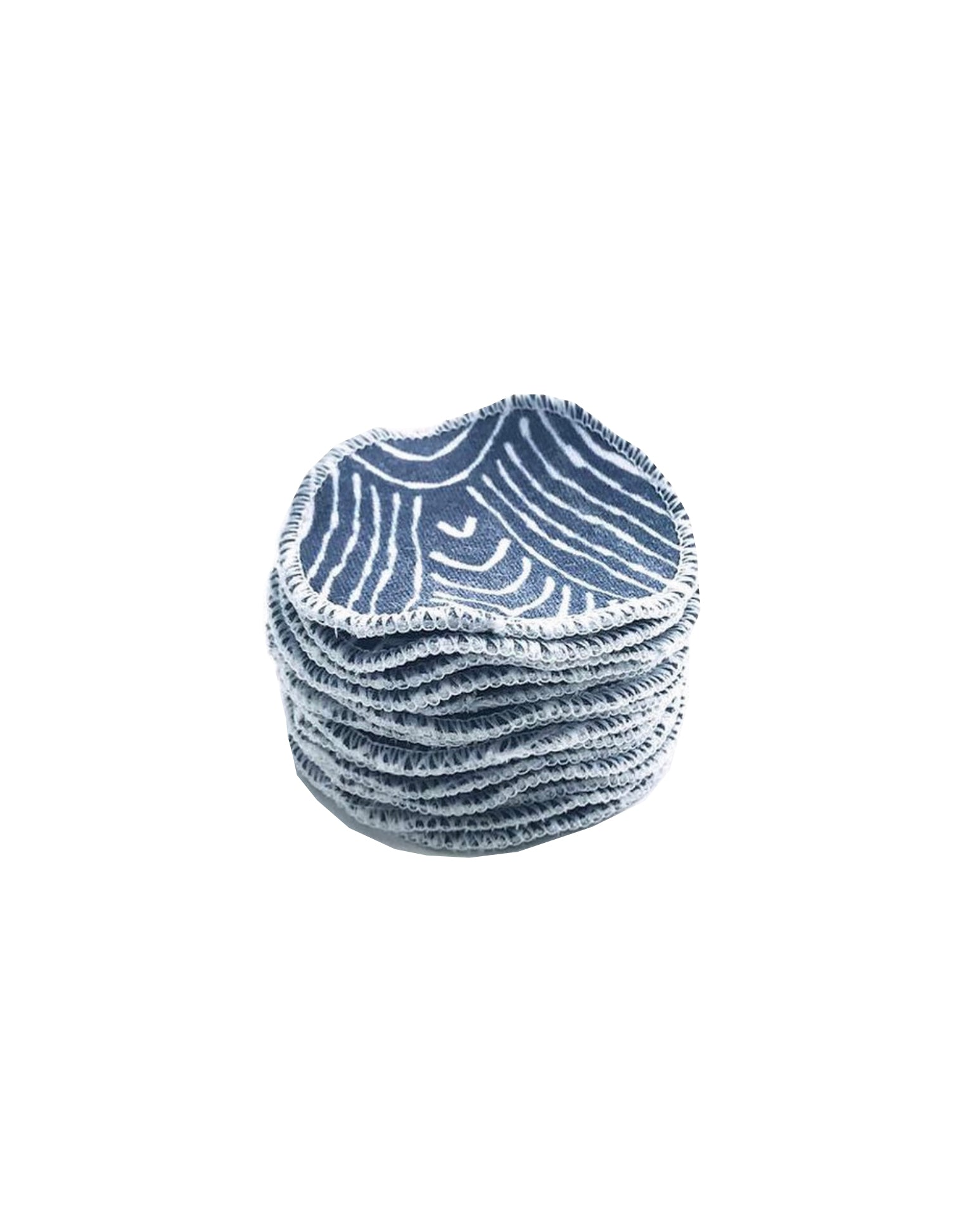 100% Organic Cotton Reusable Rounds - Navy