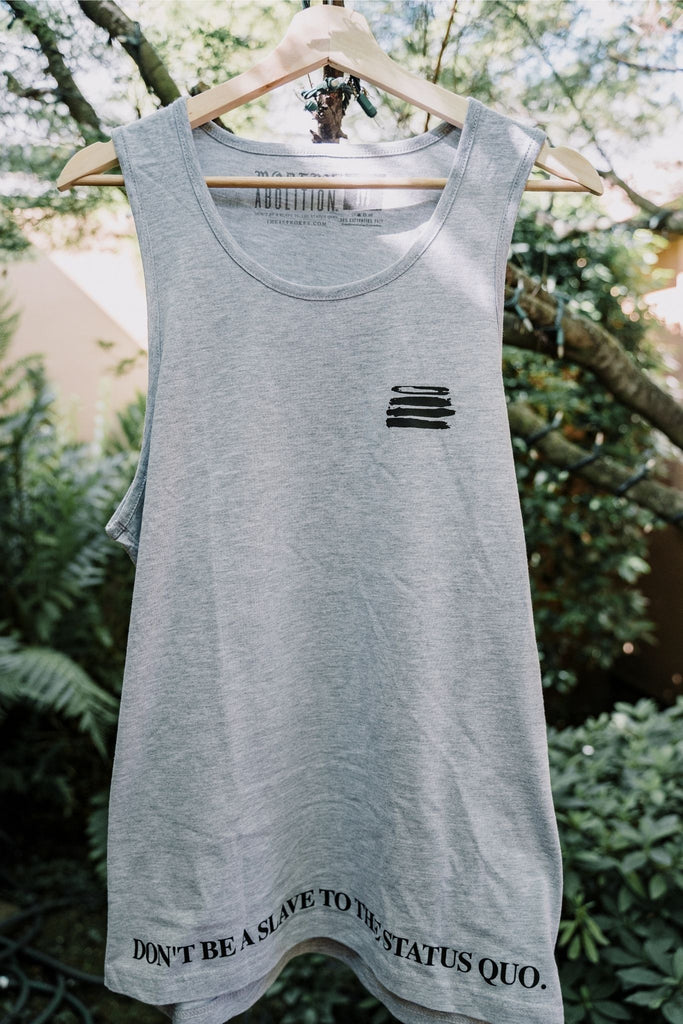 MA Summer Vibez Men's Cut Tank - Grey/Black