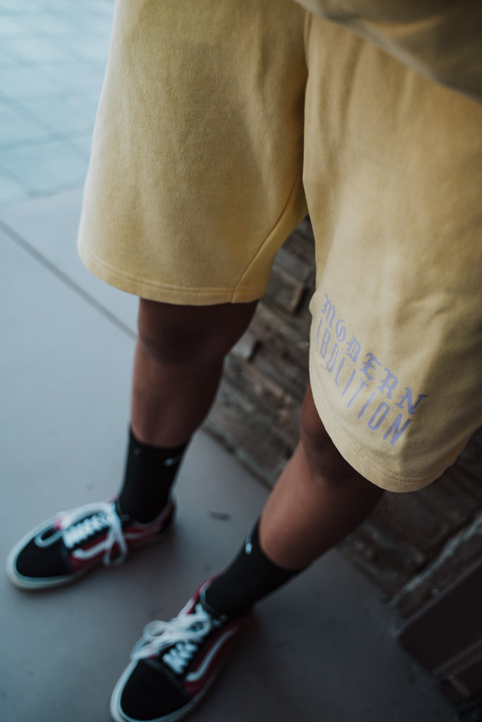 Springn' Sweat Shorts - Yellow