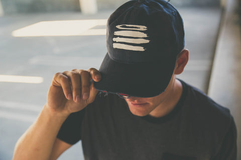 4 Strokes Distressed | Strap Back Dad Hat