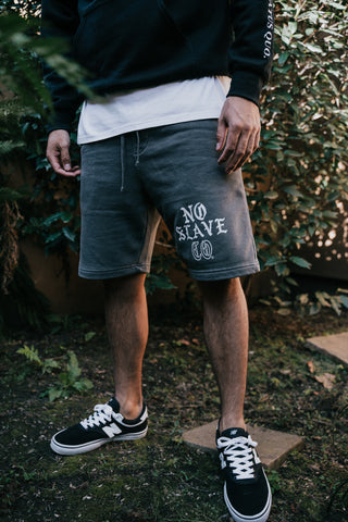 No Slave Co. Sweat Shorts - Dust Black
